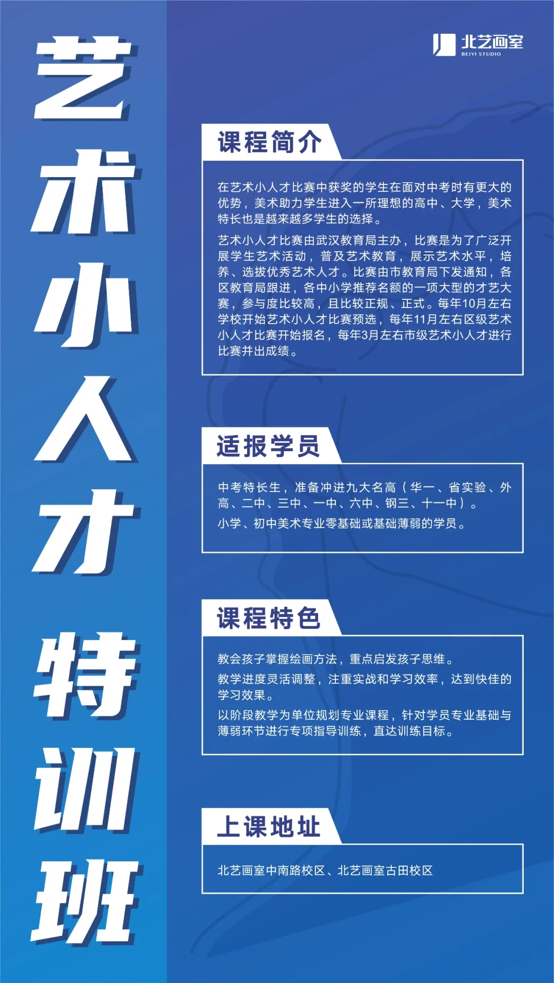 北艺春季班班型