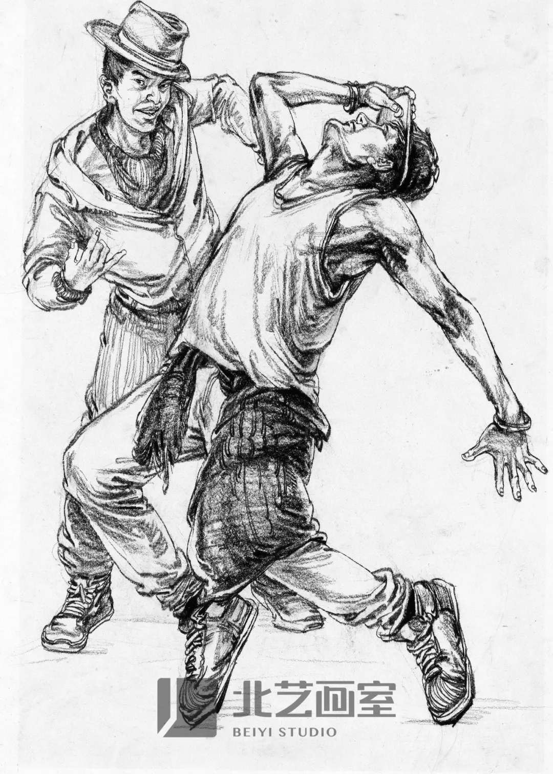人物速写——双人跳舞组合